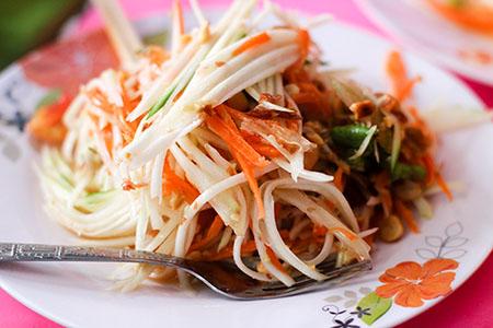 Tajlandia: TIPS & TRICKS papaya sałatka z papai